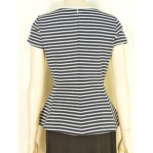 Theory Tops - Theory top SZ 4 black white stripes peplum zipper